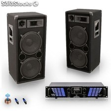 Altavoces 3000W megafonía USB SD MP3 amplificador