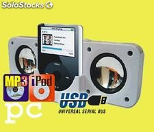 Altavoces Amplificadores Portatiles para PC, iPod, Mp3, Mp4, Portatiles
