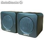 Altavoces approx 2.0 appspae jack 3.5MM 5W color negro alimentacion usb 5V