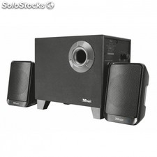 Altavoces inalámbricos 2.1 trust evon - bt - 30W (15W rms) - subwoofer madera