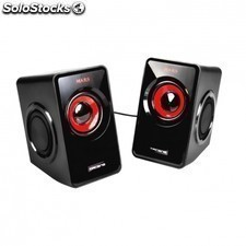 Altavoces MARS gaming ms1 - 10w rms - 6 drivers de sonido - sistema subwoofer