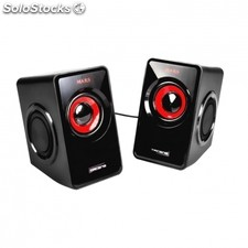 Altavoces mars gaming MS1 - 10W rms - 6 drivers de sonido - sistema subwoofer -