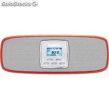 Altavoces multimedia Mooster portatil Slim pantalla LCD - FM radio - MP3/WMA -
