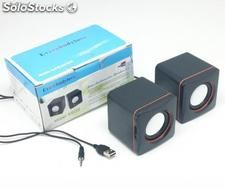 altavoces para pc portatil movil smartphone altavoz conexion usb y cable de 3.5