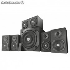 Altavoces trust vigor 5.1 surround black - 150W (rms 75W) - subwoofer y