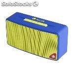 Altavoz bluetooth ngs rollerjoyblue 3W radio sd usb azul amarillo