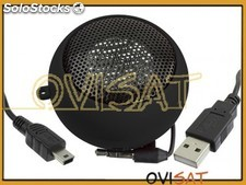 Altavoz para USB de color negro. Jack 3,5mm.