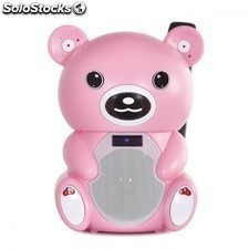 Altavoz portatil fonestar bear-400r - bluetooth - reproductor USB/sd - karaoke