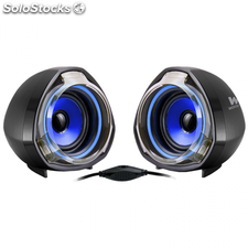 Altavoz WOXTER Big Bass 70 sistema 2.0 15W USB mini-jack 3.5mm Ref: SO26-055