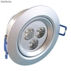 Alto brillante lamparas led techo 3x1W