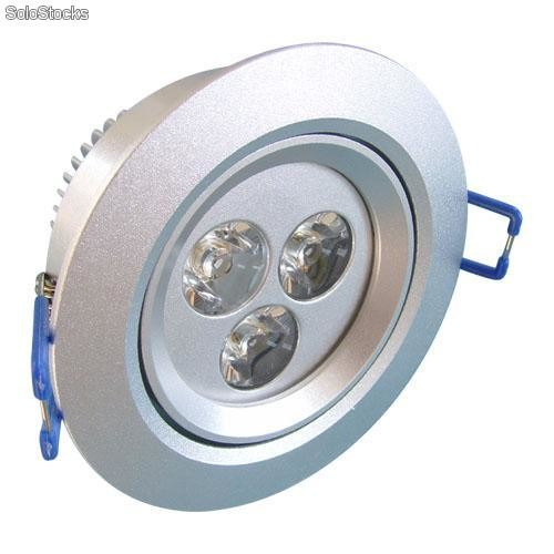 Alto brillante lamparas led techo 3x1w - Lampara techo led ...