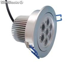 Alto brillante led Foco Downlight Regulable 7x1W