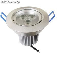 Alto brillante regulable bombilla led downlight 9w