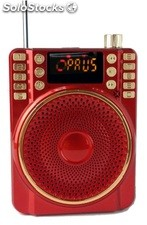 altoparlante portatil bocina MP3 USB TF FM radio bateria recargable K260