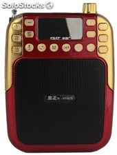 altoparlante portatil bocina MP3 USB TF FM radio bateria recargable K280