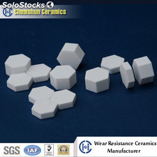 Alumina Ceramic Hexagonal Tiles From Wear Ceramic Liner Manufacturers