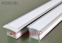 Aluminum led bar + Opal cover Rigid led faixas 5050 smd + Opal pc cover