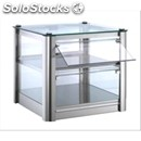 Ambient display - mod. lc93o - n. 2 display shelves - tempered glass front and