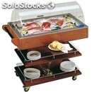 Ambient trolley for bakeries, pans, fish - mod. triple - wooden frame -