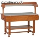 Ambient trolley - mod. eln2835 - solid wood structure - plexiglass display lid -