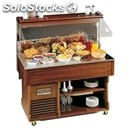 Ambient wall buffet display - mod. wall4neutral - dimensions cm l 142,2 x d 75 x