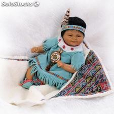 Américaine simulation 42cm Indian baby doll