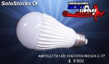 Ampolleta Led 13watt/220v/rosca e-27