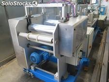 An extrusion line for the manufacture of PVC tubes for blood and serum bags.