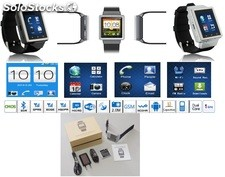 Android celular reloj phone watch s6 mtk6577 gsm wcdma 512mb 4gb FM bt camara