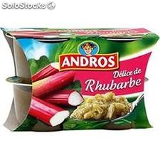 Andros delice rhubarbe 4X100G