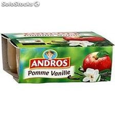 Andros pommes/vanille 4X100G