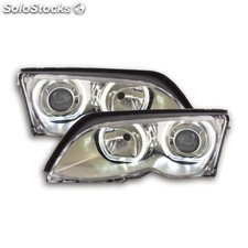 Angel eye headlight led bmw 3er e46 yr. 01-03 chrome