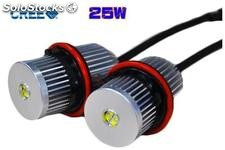 Angel eyes bmw luz blanca cree led 25 w (E39, E53, E60, E61, E63, E64, E65, E81,