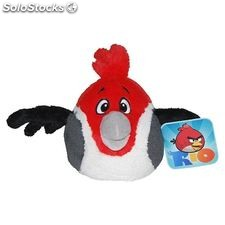 Angry birds rio official 5 inch soft plush toy rio - pedro - red with sound