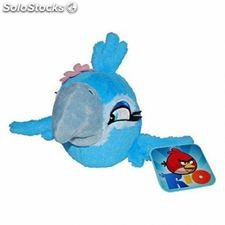 Angry birds rio official soft plush toy rio - jewel blue girl with sound
