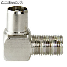 Antenna Adapter F Female - Coax Male Silver