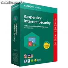 Antivirus kaspersky internet security 2018 - renovación 3 licencias / 1 año - no