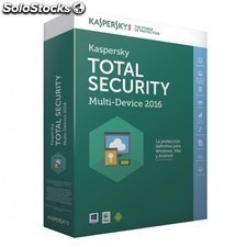 Antivirus KASPERSKY total security multi-device 2016 - 3 dispositivos - pago