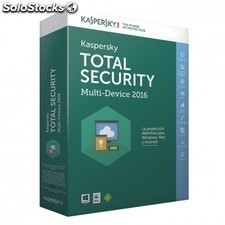 Antivirus KASPERSKY total security multi-device 2016 - 5 dispositivos - pago