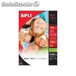 Apli papel inkjet best price paquete 100 hojas A4 140 g brillo 11804