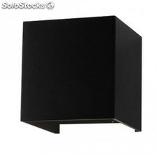 Aplique de Pared 6W Cuadrado negro 3000K