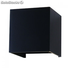 Aplique de Pared 6W Cuadrado negro 4000K