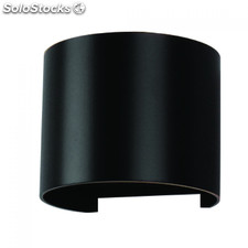 Aplique de Pared 6W Curvo negro 3000K