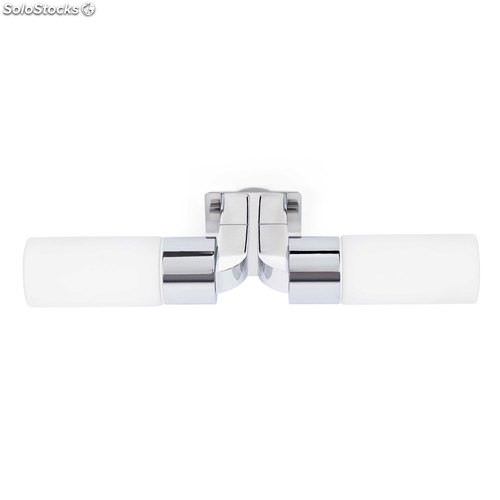 Aplique de pared baño cromo Laos 2 x E14 40W IP44