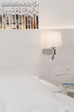 Aplique de pared blanco Room E27 20W+3W 3000K