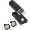 Aplique de pared con sensor y LED, acero inoxidable, negro