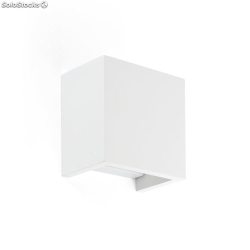 Aplique de pared cuadrado blanco Oslo G9 40W