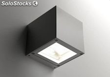 Aplique de pared cuadrado exterior gris Mirca 2 x LED 4W 3000K 165Lm IP65