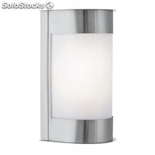 Aplique de pared exterior acero inox Kate E27 60W IP44
