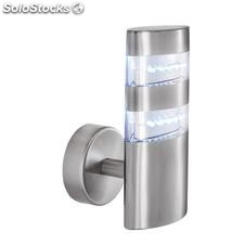 Aplique de pared exterior acero inox Leda LED 1,44W 5000K 90Lm IP44